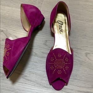 Vintage Onex pink suede shoes 10